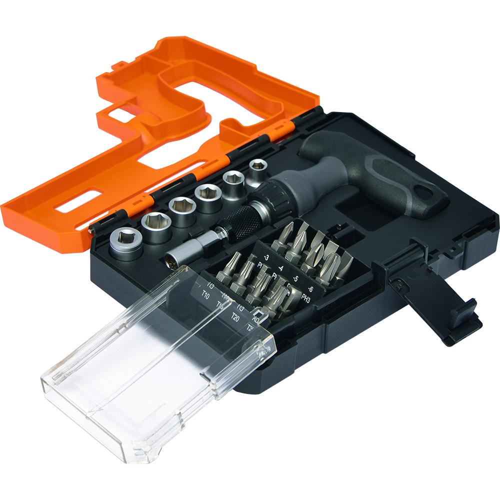 schraubendreher set mit bits und steckn ssen craft 23 hc grau profi werkzeuge tools. Black Bedroom Furniture Sets. Home Design Ideas
