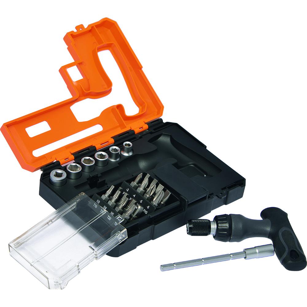 schraubendreher set mit bits und steckn ssen craft 23 hc orange profi werkzeuge tools. Black Bedroom Furniture Sets. Home Design Ideas