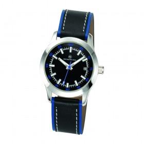 """Armbanduhr """"Cassini Damen schwarz/blau"""""""
