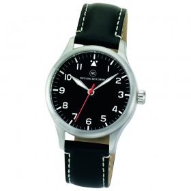 "Edelstahl-Armbanduhr ""Delta schwarz"""