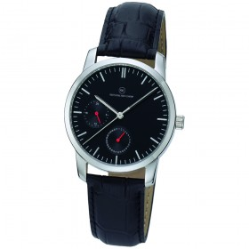 "Edelstahl-Armbanduhr ""Genius schwarz"""