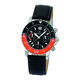 "Chronograph ""Spectra Chrono Damen schwarz/orange"""