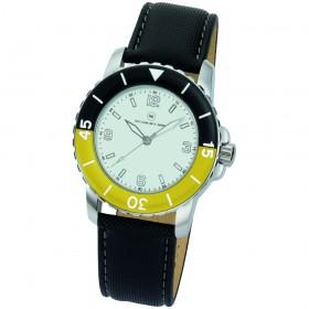 """Armbanduhr """"Spectra weiß/gelb"""""""