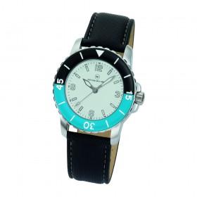 "Armbanduhr ""Spectra Damen weiß/blau"""