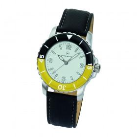 """Armbanduhr """"Spectra Damen weiß/gelb"""""""