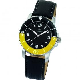 """Armbanduhr """"Spectra schwarz/gelb"""""""