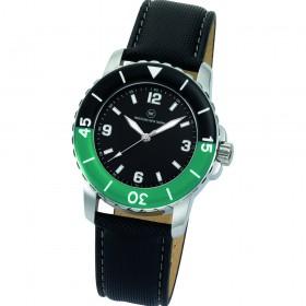 "Armbanduhr ""Spectra schwarz/grün"""