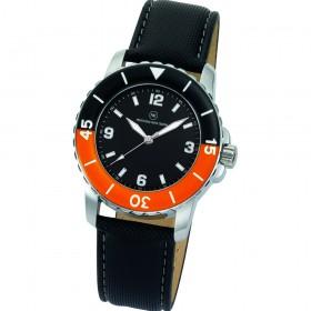 "Armbanduhr ""Spectra schwarz/orange"""