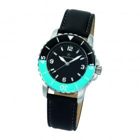 """Armbanduhr """"Spectra Damen schwarz/blau"""""""