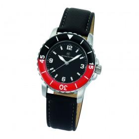 "Armbanduhr ""Spectra Damen schwarz/rot"""