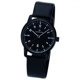 "Edelstahl-Armbanduhr ""Mondo schwarz"""