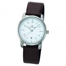 "Edelstahl-Armbanduhr ""Mondo weiß"""