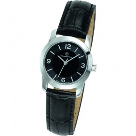 "Edelstahl-Armbanduhr Made in Germany ""Capella Damen schwarz"""