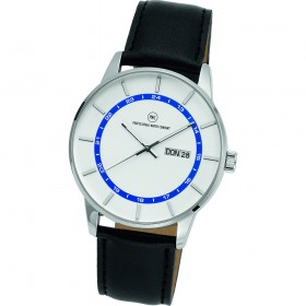 "Armbanduhr ""Vectory Classic silber/blau"""