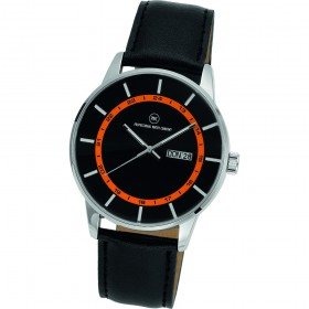 "Armbanduhr ""Vectory Classic schwarz/orange"""