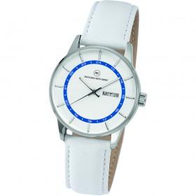 "Armbanduhr ""Vectory Classic Damen silber/blau"""