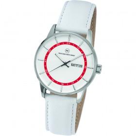 "Armbanduhr ""Vectory Classic Damen silber/rot"""