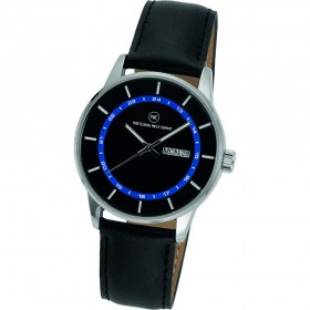 """Armbanduhr """"Vectory Classic Damen schwarz/blau"""""""