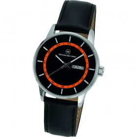 "Armbanduhr ""Vectory Classic Damen schwarz/orange"""