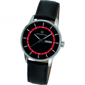"Armbanduhr ""Vectory Classic Damen schwarz/rot"""