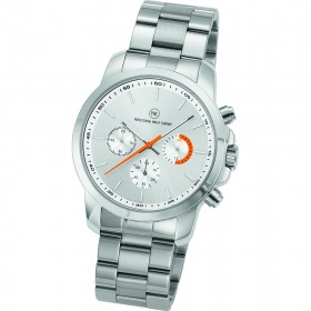 "Chronograph ""Sedna Metall silber/orange"""