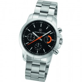 "Chronograph ""Sedna Metall schwarz/orange"""