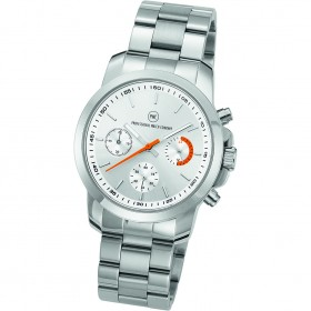 "Chronograph ""Sedna Metall Damen silber/orange"""