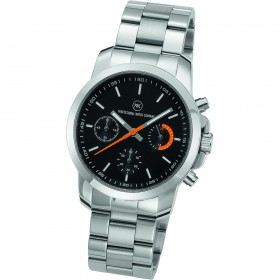 "Chronograph ""Sedna Metall Damen schwarz/orange"""