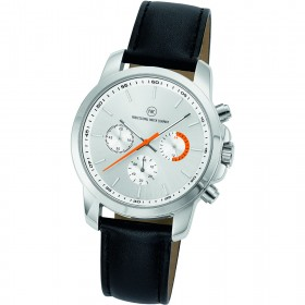 "Chronograph ""Sedna Classic silber/orange"""