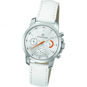 "Chronograph ""Sedna Classic Damen silber/orange"""