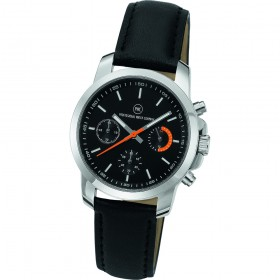 "Chronograph ""Sedna Classic Damen schwarz/orange"""