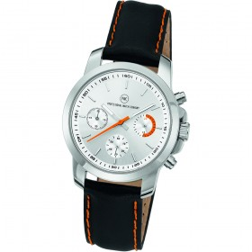 "Chronograph ""Sedna L Damen silber/orange"""