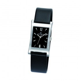 "Edelstahl-Armbanduhr ""Tagus Damen schwarz"""