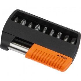 """Bit-Set mit magnetischem Bithalter """"Bit Box 10 HC orange"""""""